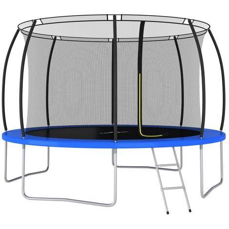 Trampoline Set Round 366x80 cm 150 kg
