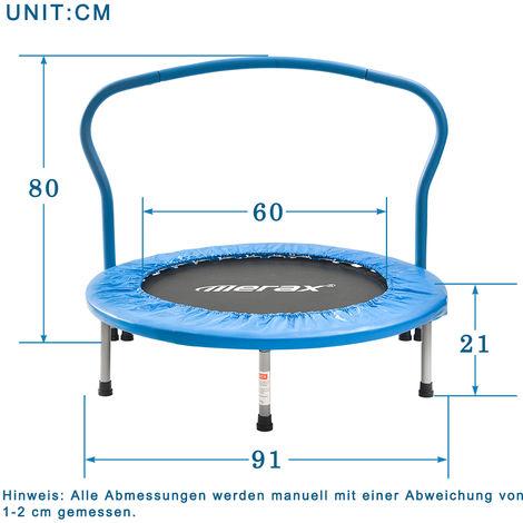 Trampoline Topdeal, pliable, entraînement de fitness trampoline intérieur, mini trampoline, poids maximum de l'utilisateur 80 kg