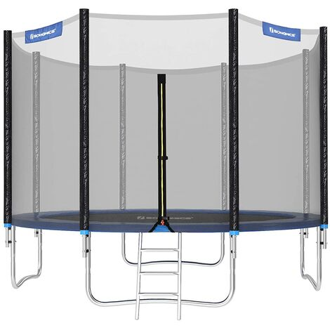 Trampoline TÜV Rheinland GS Ø305cm Certificate 10ft Complete set With Safety Enclosure Net Ladder Trampolin pad Bounce Mat STR10FT