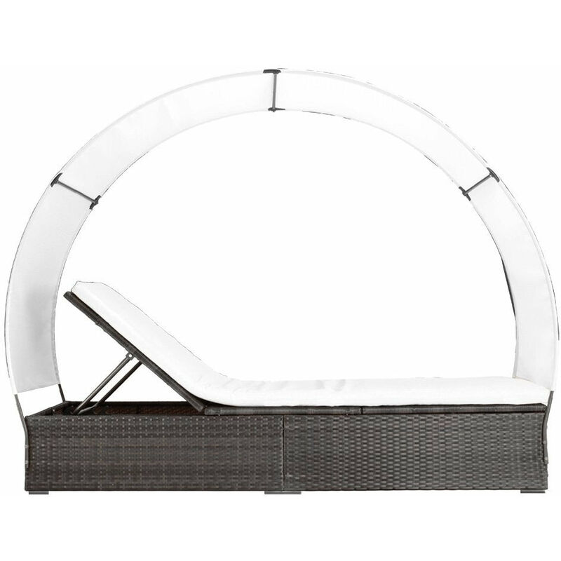 Transat bain de soleil lit de jardin chaise longue rotin luxe avec ...