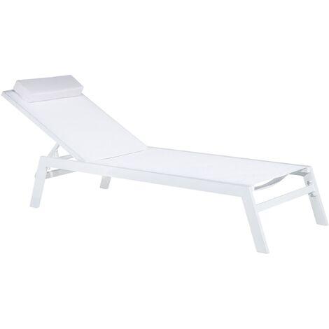 avis chaise longue inclinable aluminium blanc catania ii