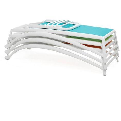 Transat design Atlantico 70x204 par Nardi - Empilable