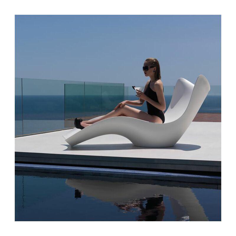 Transat design Surf - Blanc - Extérieur - Anti-dérapant - Blanc - Vondom
