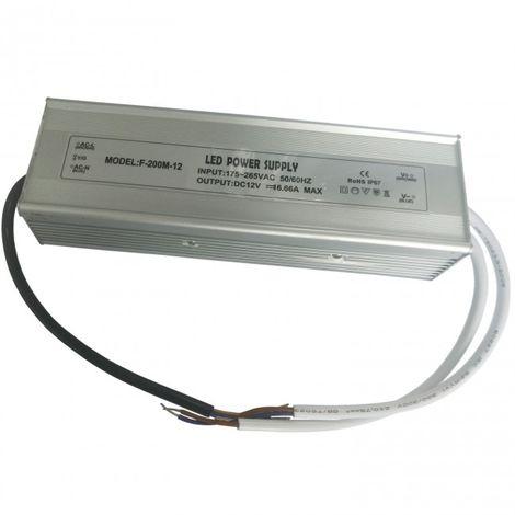 Transformador 24V DC Hasta 200w con IP67