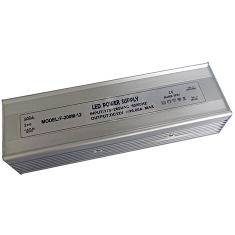 TRANSFORMADOR 24V DC HASTA 200W IP67