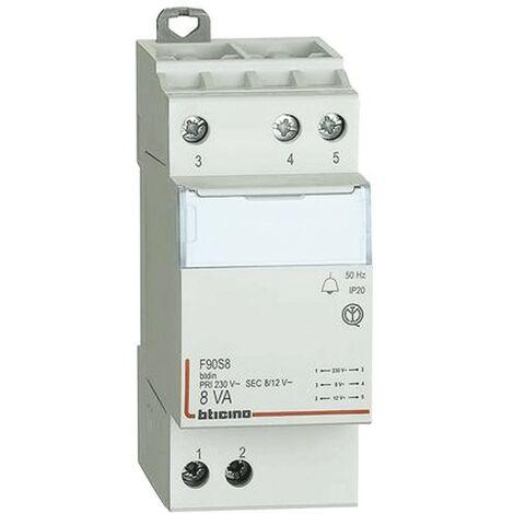 Transformador Bticino para timbres 230V/12V F90S8