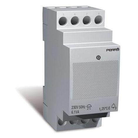 Transformador con timbre 2 DIN 230V Perry 1SUTRSU/2