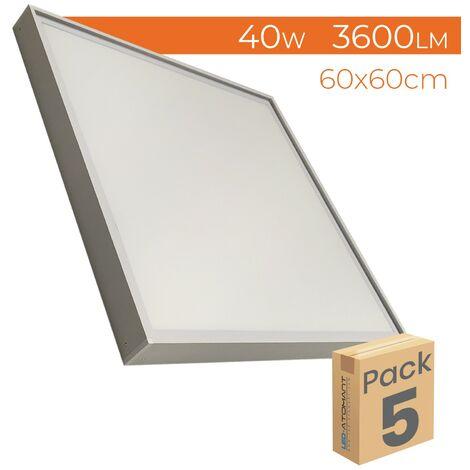 Transformador de potencia, Fuente de alimentacion, transformador de voltaje para tira led de 60w a 12V | Pack 2 Uds. - Pack 2 Uds.