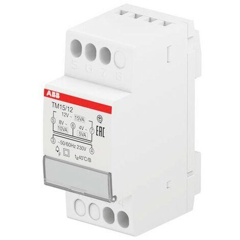 Transformador de tensión de ABB para campanas de 4 a 8-12V 15VA TM1512