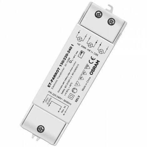 Transformador electrónico regulable para dicroicas 12V (Osram 4008321111579)