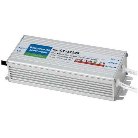 Transformador Estanco 100w 12v Ip67 17,1x6,2x4,1