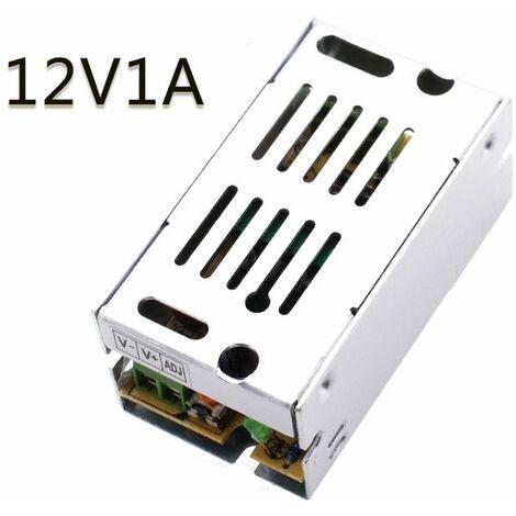 Transformador-Fuente de Alimentacion/Alimentador AC a DC de 220 a 12v 1 Amperios- 12W