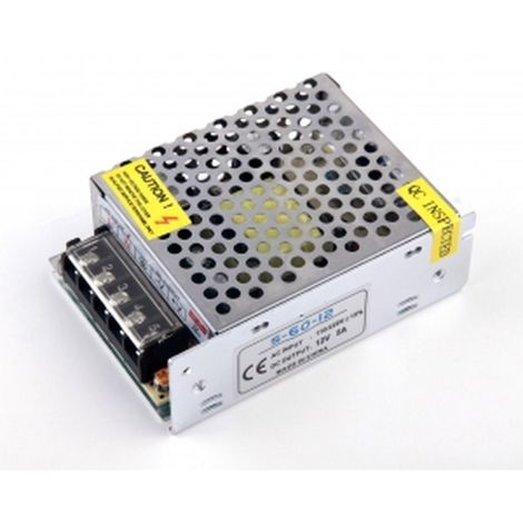 Transformador-Fuente de Alimentacion/Alimentador AC a DC de 220 a 12v 5 Amperios- 60W