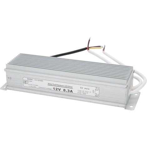 Transformador LED 100W 230VAC/12VDC IP67 (KDTR12V100WIP67)