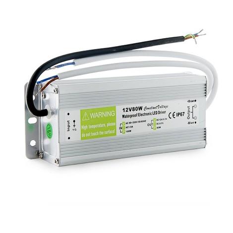 Transformador LED 80W 230VAC/12VDC IP67 (KDTR12V80WIP67)