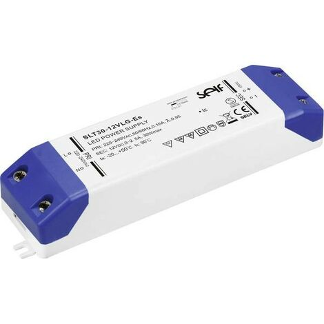 Transformador LED de voltaje constante Self Electronics SLT30-12VLG-ES 30 W 12.0 VDC