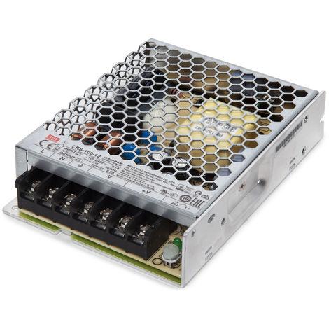 Transformador LED Meanwell 100W 230VAC/12VDC IP20 (OL-LRS-100-12/15/36/48)