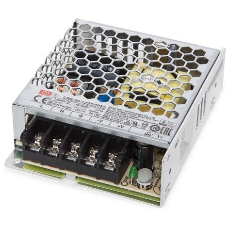 Transformador LED Meanwell 35W 230VAC/12VDC IP20 (OL-LRS-35-12/15/36/48)
