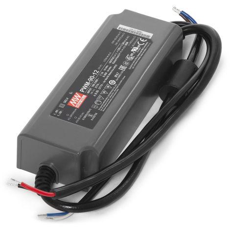 Transformador LED Meanwell 90W 230VAC/12VDC regulación 0-10V IP67 (OL-PWM-90)