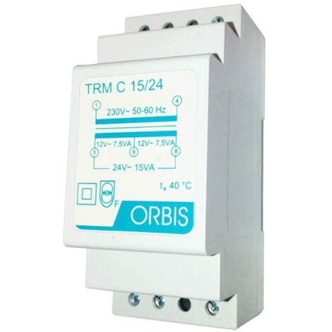 Transformador modular Orbis 15VA 230 / 12-24V AC OB86C1524