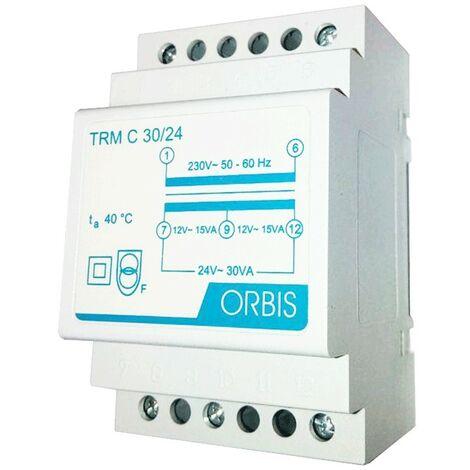 Transformador modular Orbis 30VA 230V / 12-24V AC OB86C3024