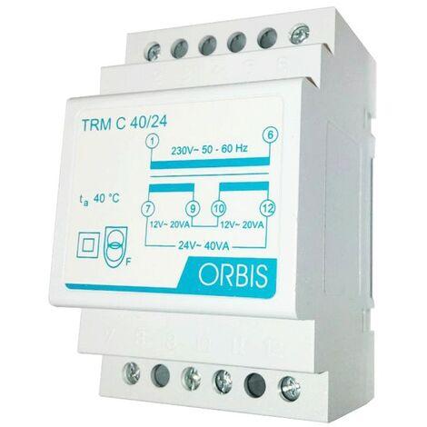 Transformador modular Orbis 40VA 230V / 12-24V AC OB86C4024