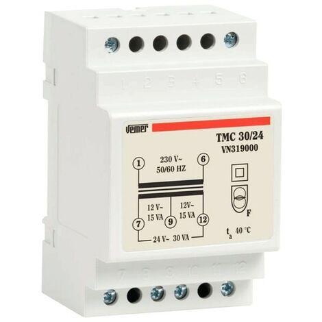Transformador modular Vemer TMC 30VA 230/12/24V 3 Módulos VN319000