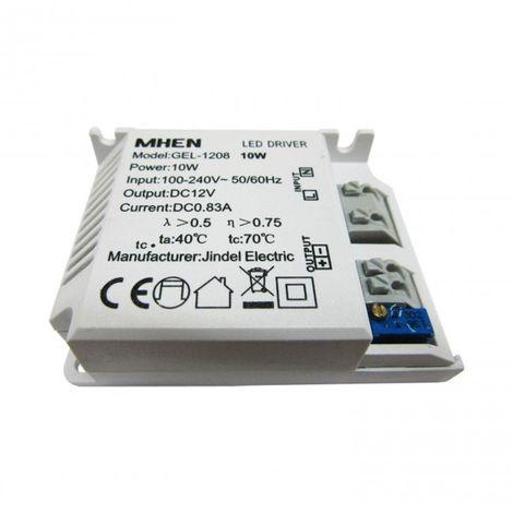 Transformador tira LED 12V 1 Amperio hasta 10W