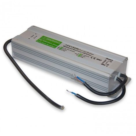 Transformador tira LED 150W con IP65 12,5 Amperios