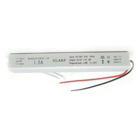 Transformateur 220V 12V 18W DC 1.5A - SILAMP