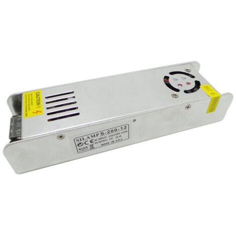 Transformateur 220V 12V 200W IP20 DC 16.5A - SILAMP