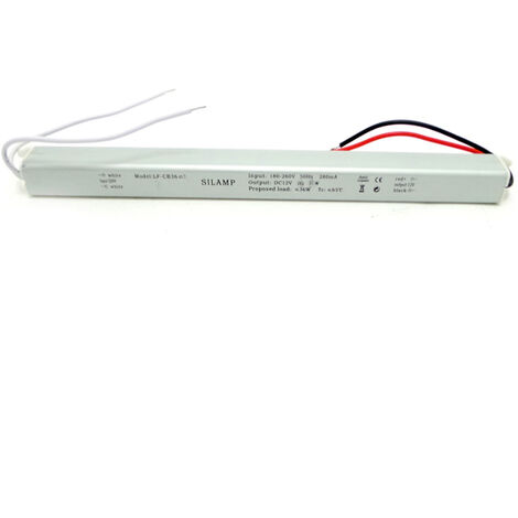 Transformateur 220V 12V 60W IP44 DC 5A - SILAMP