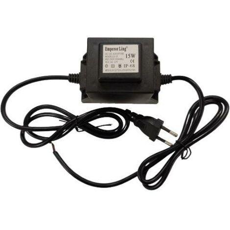 Transformateur 220V 12V étanche IP68 15W pour Piscine - SILAMP