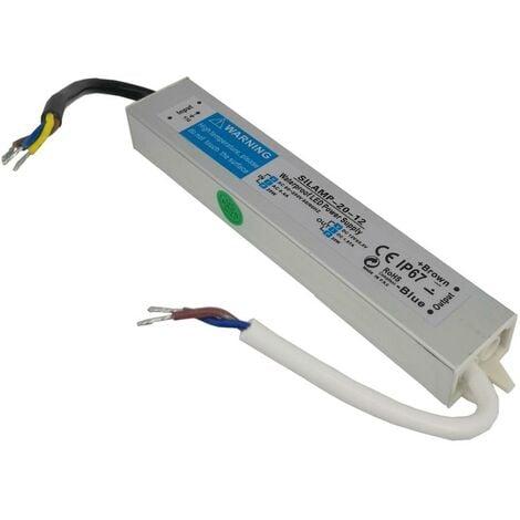 Transformateur 220V 12V IP67 20W DC 1.67A - SILAMP