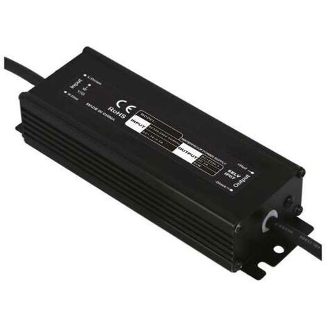 Transformateur 220V 24V étanche IP67 60W DC 2,5A - Noir - SILAMP