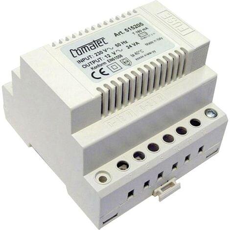 Transformateur 230 V AC - 12 V AC 2 A rail DIN 5 modules Comatec TBD2/024.12/F5