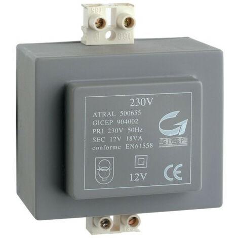 Transformateur 230V 12V 18VA (A7901)