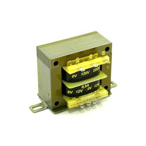 Transformateur Alimentation 12V+12Vac 0,5Amp