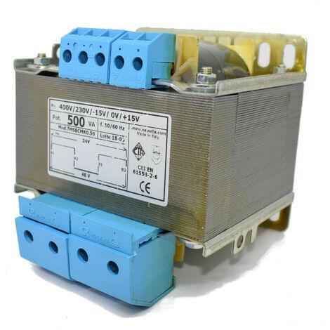 Transformateur CTA deux Fils isolement 500VA 230-400/24+24 TMSBCMK0.50