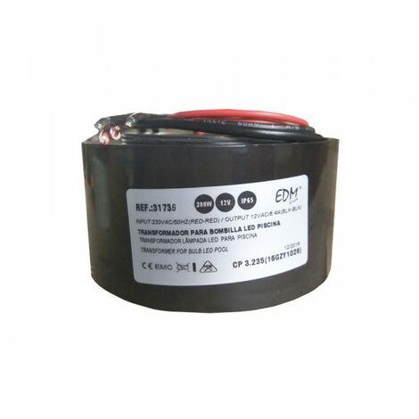 Transformateur d'alimentation pour éclairage halogène piscine 300w ac12v ip65
