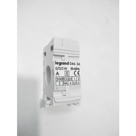 Transformateur de courant TI 6VA monophasé 230V rapport transformation 200/5 LEXIC LEGRAND 004636