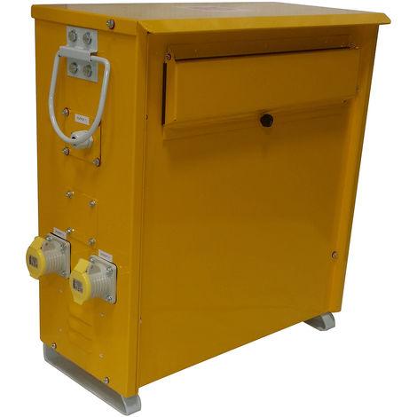 Transformateur de sécurité 5kVA, primaire 230V ac, secondaire 110V, 16A
