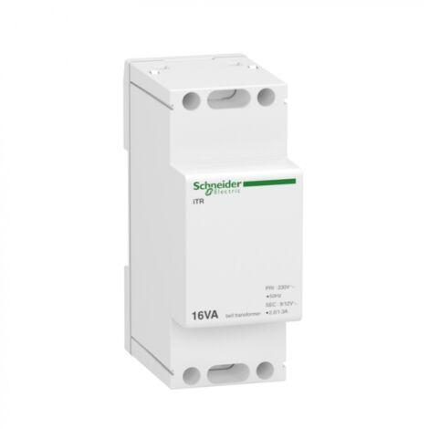 Transformateur de sonnerie et ronfleur Acti9 ITR et Resi9 - 16 VA - 230 V CA vers 8 et 12 V CA