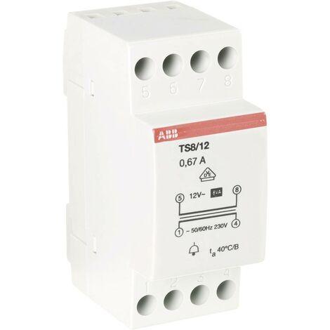 Transformateur de sonnette ABB 2CSM081401R0811 12 V/AC 0.67 A