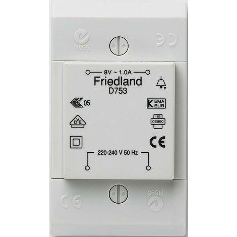 Transformateur de sonnette Friedland D753 8 V/AC 1 A