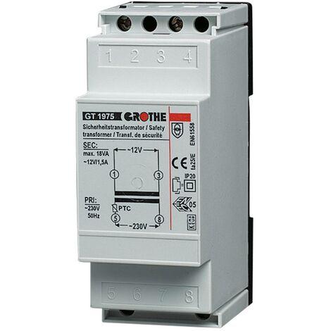 Transformateur de sonnette Grothe 14101 12 V/AC 1.5 A