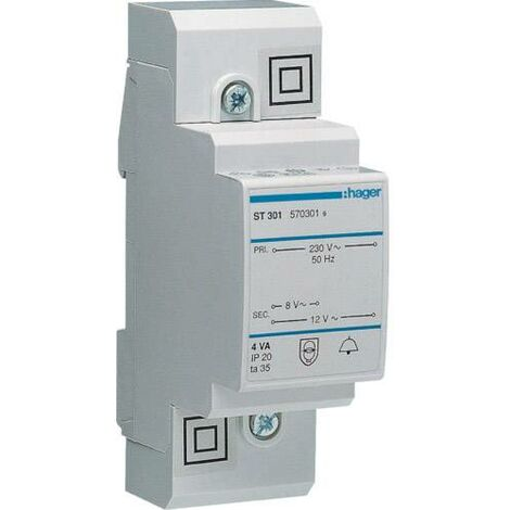 Transformateur de sonnette Hager ST301 ST301 8 V, 12 V 0.5 A 1 pc(s) C133521