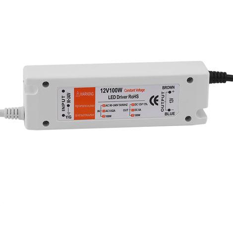 Transformateur D'Eclairage Dc12V 100W, Pour Alimentation D'Energie A Led