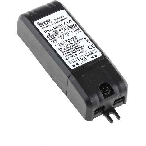Transformateur d'éclairage, Vin 230 → 240V ac, Vout 11,5 V, 10 → 60W