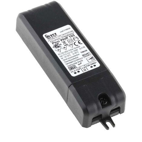 Transformateur d'éclairage, Vin 230V ac, Vout 12 Mo, 20 → 105W